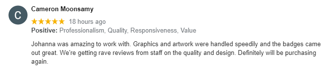 review name badge company